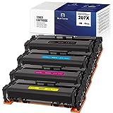 BunToner Cartucho de tóner compatible HP 207X para HP Color Laserjet Pro M283fdw M255dw M282nw M283fdn M283fdn M283 M282 M255 (sin chip)