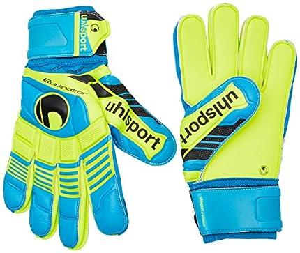 uhlsport Torwarthandschuhe Eliminator Supersoft - Guantes de Portero para fútbol, Color Azul, Talla 11