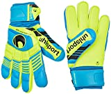 uhlsport Torwarthandschuhe Eliminator Supersoft - Guantes de Portero para fútbol, Color Azul, Talla 11