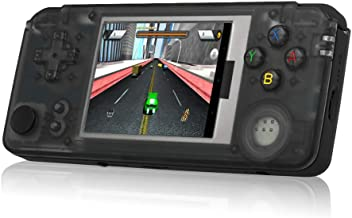 Goolsky Q9 Handheld Game Console Roker Portable Gaming Machine Music Player Built-in 3000 Classic Games Color Screen AV + 3.5mm Audio Out TF Slot 1800mAh Battery 3.0 inch