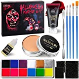 AFFLANO Special Effects Stage Halloween Makeup Set,All-in-1 SFX Makeup Kit-Face Body...