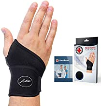 Doctor Developed Premium Copper Lined Wrist Support/Wrist Strap/Wrist Brace/Hand Support [Single]& Doctor Written Handbook— Suitable for Both Right and Left Hands