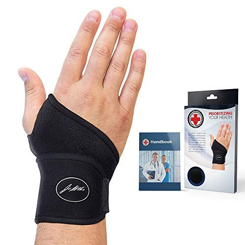 Doctor Developed Premium Copper Lined Wrist Support/Wrist Strap/Wrist Brace/Hand Support [Single]&...