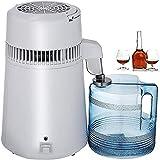 Wxnnx Destilador de Agua para encimera de 4 l con Recipiente sin BPA, destilador Interior de Acero Inoxidable para destilar Agua Pura, 110-220 V 750 W