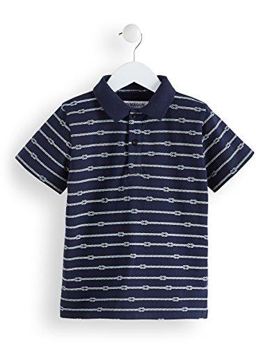 RED WAGON Jungen Poloshirt mit Anker-Muster, Blau (Blue 19-3924 Tcx), 104 (Herstellergröße: 4)