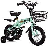 Bicicleta para niños Niños niñas Bicicleta estilo libre 12 14 16 pulgadas con ruedas de entrenamiento, 16 18 20 pulgadas con pata de cabra Bicicleta para niños Azul Rojo Naranja Verde Rosa Blanco Fu