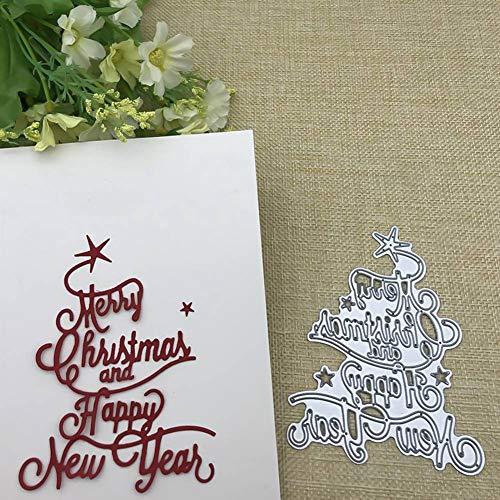 Fingertoys Kerstmis metaal stansvormen, kerstboom sneeuwpop hert kerstman metaal gestanst voor DIY verzamelalbum papier kaart maken handwerk decoratie Style 42