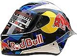 HAOYUNLAI Motocross Fullface Helmet, Motorcycle Helmet, Bicycle Helmet, ABS DOT/ECE Certification Four Seasons Large Rally Helmet, Mountain Bike DH Downhill Helmet, Red Bull