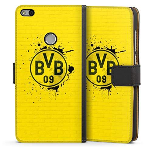 Sideflip compatibel met Huawei P8 Lite 2017 Bookcase Flipcase BVB Borussia Dortmund Officieel licentieproduct