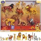 Le Rey Leon - Juego de 10 Figuras con Simba, Nala, Pumbaa, Timon, Rafiki, Zazu, Mufasa, Scar, Hyena, Vulture, Juguete para niños a Partir de 3 años, LNN08