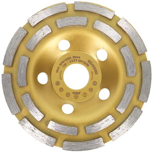 Muela de copa diamante 125 mm x 22,2 estándar para hormigón, mampostería, piedra. Muela de copa diamante de doble rodadura 125 mm'rápido y eficaz'
