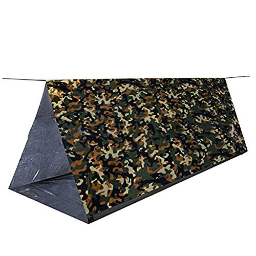 CHD Emergency 2 Person Tube Tent Survival Shelter Ultralight Waterproo Shelter Use As Survival Blanket for Camping Adventure Hiking