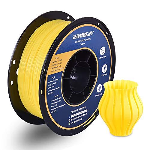 Filamento per stampante 3D, 1,75 mm, PLA 1,75 Filamento di precisione +/-0,03 mm, 1 kg (giallo)