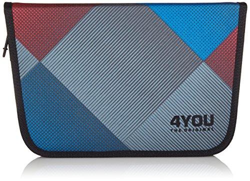 4YOU Igrec 16660064800 - Estuche para lápices con Cremallera, Color Rojo y Azul