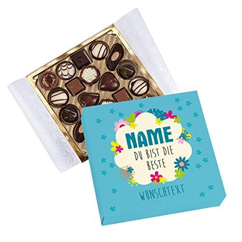 Herz & Heim® Lindt Pralinen in eigener Banderole - Du bist die Beste - mit Namen und Wunschtext
