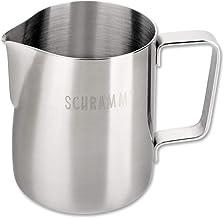 Schramm® melkkan melkkan RVS 350ml melkschuimkan met barista pen melkschuim latte macchiato café latte zilver