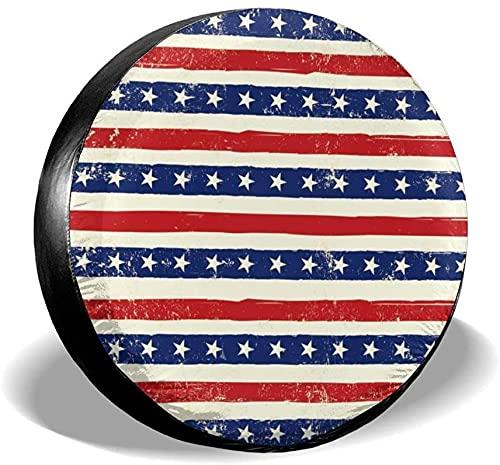 American Grungy Background Funda para llanta de repuesto,poliéster,universal,de 16 pulgadas,para llanta de repuesto,para remolque,RV,SUV,rueda de camión,camión,camper,accesorios de remolque de viaje