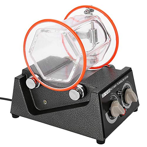 Schmuck-Polierer Polierer Perlenreiniger Polieren Finisher Maschine Mini Rotary Tumbler Machine mit Timer Schmuckpolierer Finisher für Schmuckstein