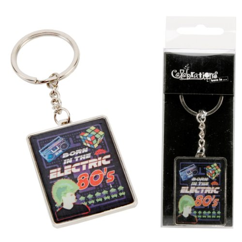 Born in the Electric 80s Keyring