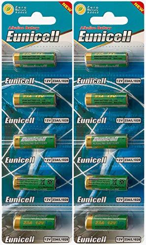 10x 23bis pilas alcalinas 12V 2Blistercards par caja de 5alcalinas A23/MN21/23A/V23GA/L1028, A23marcas...