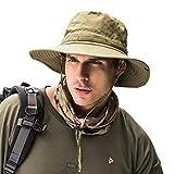 Dsaren Sombrero de Ancho Brim Hombres Sombrero de Pescador Camuflaje del Ejército para Exteriores Pesca Camping Ciclismo Caza Golf Senderismo (Ejercito Verde)