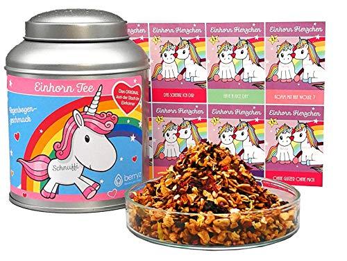 Einhorn Tee Regenbogengeschmack. Das super Geschenk für Einhorn Fans| 100g loser Früchtetee | 100% Einhorn 100% Natürlich