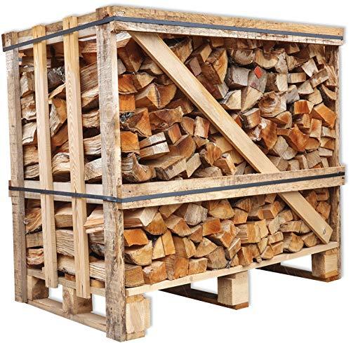 Brennholz Buche 25cm trocken + 1 Netz Anzündholz Gratis Kaminholz ofenfertig Ofen Holz Feuerholz Scheitholz Kaminfeuer Lagerfeuer Pizzaofen 1RM Box=ca.1,2 Ster=ca.1,5SRM-m³=ca.450kg