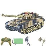 Poooc Fernbedienung Panzer Tank, Wireless Control 2,4 GHz Fernbedienung Modell Spielzeug USB-Lade RC...