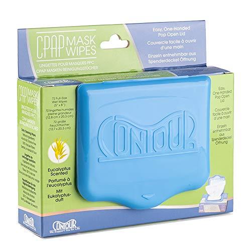 Contour CPAP Reinigungstücher - 72 Stück - Effektive Reinigung für CPAP-Maske (Eukalyptus)