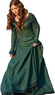 TBATM Women Medieval Dress, Ladies Renaissance Classical Long Sleeve Round Collar Irregular Slim Palace Royal Court Princess Costume,Green,M
