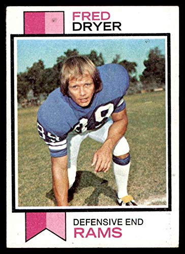 1973 Topps # 389 Fred Dryer Los Angeles Rams (Football Card) EX/MT Rams San Diego St