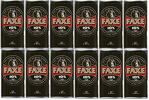 12 Dosen Faxe Strong a 1 Liter 10% vol. Dänisches Starkbier inklusive EINWEG Pfand