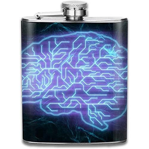 Coole lila Gehirn vergeblich Muster Retro tragbare Edelstahl auslaufsicher Alkohol Whisky Schnaps Wein Topf Flachmann