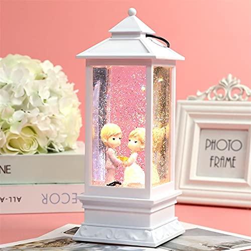Ornaments MCE - Linterna de viento con forma de copo de nieve para el hogar, accesorios para niñas y niñas, regalos de graduación para profesores (color: blanco para pareja)