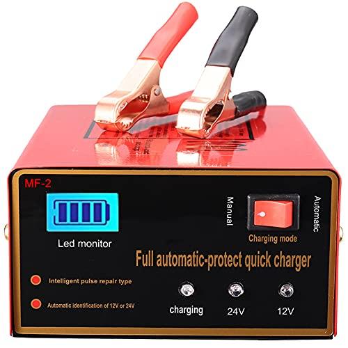 Chargeur de batterie de voiture 10 A - 12 V/24 V - Convient pour la plupart des types de batteries plomb-acide 2 Ah - 150 Ah.