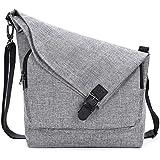AmHoo Crossbody Bag for Women Faux Leather Purse Polyester Messenger Handbags Shoulder Hobo Bag Totes