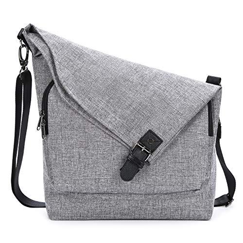 AmHoo Umhängetasche für Damen, Kunstleder, Polyester, Messengerhandtaschen, Hobo-Tasche