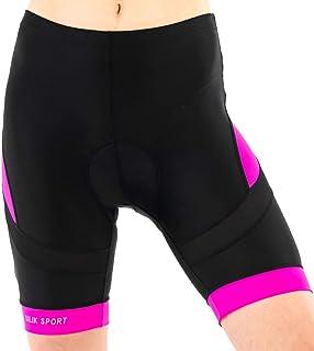 Silik Short de cyclisme pour femme avec rembourrage respirant