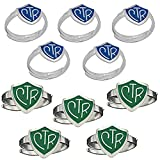 H14B - H14G Size Adjustable 10 Pack Blue And Green CTR Ring Mormon LDS Unisex One Moment In Time