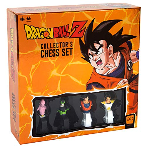 Dragon Ball Z Collector's Chess Set | Custom Sculpted Chess Pieces DBZ Heroes & Villains | Goku & Buu as Kings | Vegeta & Cell as Queens | Officially Licensed Dragon Ball Z Chess Set