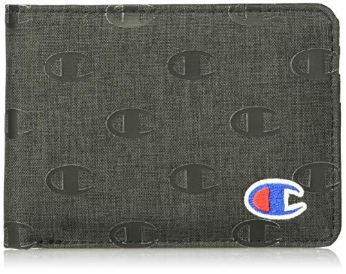 Champion Graphic Wallet Accesorio de Viaje-Billetera Plegable, Washed Negro, Talla única Unisex
