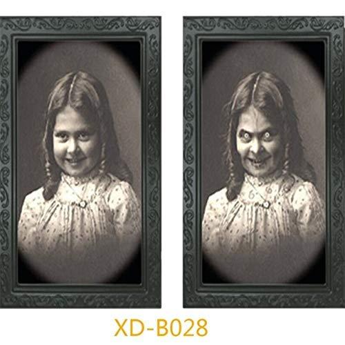 ZHAS Cuadros de imágenes de Fantasmas 3D Fantasma de Terror Marco de Fotos Cambio de Cara Decoración de Fiesta de Halloween Accesorios de decoración de Halloween Estados Unidos A