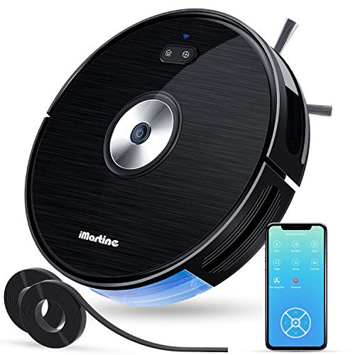 Robot Vacuum Cleaner, Wi-Fi Connected, Works with Alexa, Smart Mapping Robot Vacuum, Boundary Strips Included, 1600Pa Max Suction, Self-Charging Robot Vacuum, Cleaner Hard Floor to Carpets, Pet Hair