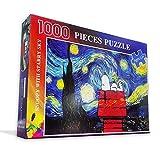 Rompecabezas juego rompecabezas 1000 piezas para adultos Puzzle 3d madera clásico rompecabezas Sn-oopy bajo las estrellas Paisaje DIY Coleccionables Decoración moderna del hogar