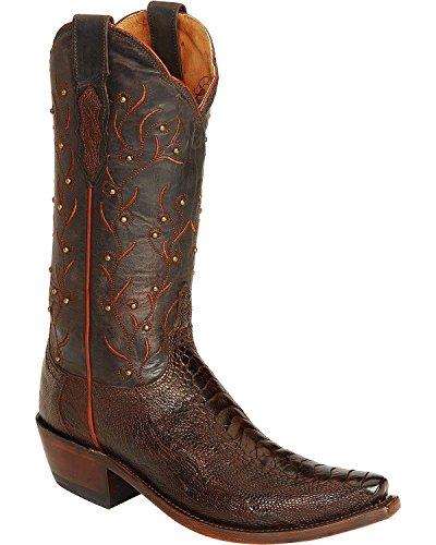 Lucchese M5616.S54 Valeria Womens Sienna Ostrich Leg Leather Cowboy Boots 6 B
