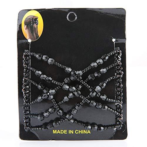 Peigne à cheveux magique quatre couleurs, épingle à cheveux magique à la mode, confortable pour tous les types de cheveux Filles pour les femmes à la maison(black)
