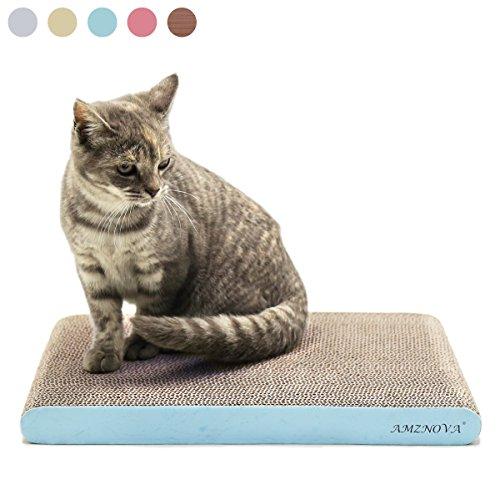 AMZNOVA Kratzbrett für Katzen, Recycelbar Kratzpad Kratzlounge, Wellpappe Kratzmatten Kratzspielzeug mit Katzenminze