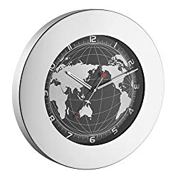 La Crosse Technology 60.3006 TFA Stainless Steel Silent Sweep Wall World Clock
