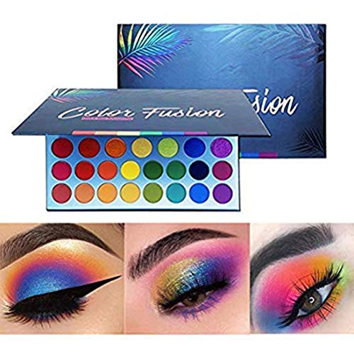 Yissma Paleta de Maquillaje Altamente pigmentada Fácil de Mezclar Fusión de Color Sombra de Ojos Brillante Sombra de Ojos Resistente al Sudor y al Agua