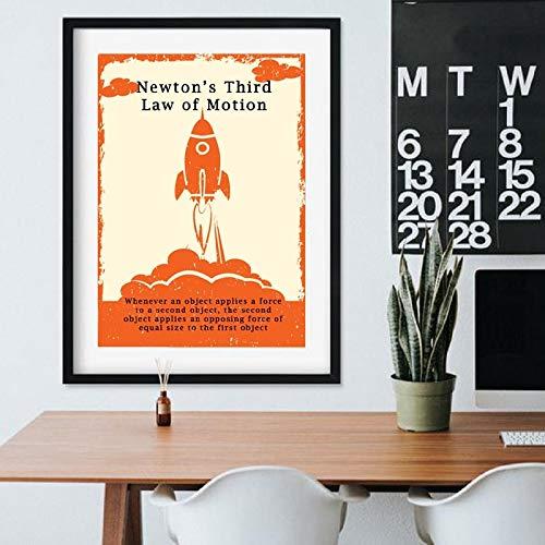 Vintage wetenschappers wet posters en afdrukken canvas muurkunst natuurkunde foto kantoor fysica muur decoratie geschenk frameloos schilderwerk